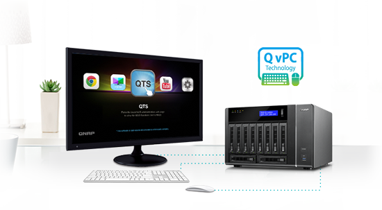 Use your TVS-EC1080 as a PC with exclusive QvPC Technology